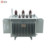 250kVA drie Transformator van de Distributie van Fasen de Olie Ondergedompelde