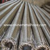 Manguito acanalado anular del metal flexible del acero inoxidable con el tejido