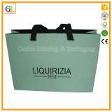 Bolso de papel de lujo de encargo del regalo de las compras (OEM-GL-003)