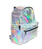 Unisexe Laser hologramme cuir synthétique étanche Daypack occasionnels sac à dos de l'école