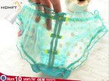 La clase alta de encaje bowknot Daisy Backless malla señoras chicas sexy ropa interior transparente