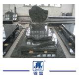 Het Europese/Russische/Amerikaanse Graniet van de Stijl/Marmeren Natuurlijke Opgepoetste Grafsteen met het Ontwerp van de Douane