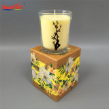 Classic Clear Scented Knell Gravel bank Candle with Custom Box