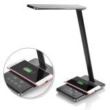 최신 판매 무선 충전기를 가진 Foldable 에너지 절약 & 눈 보호 LED 책상용 램프