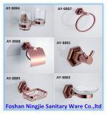 Badezimmer-Zubehör mit Rosen-Goldtuch-Zahnstangen-Tuch-Ring