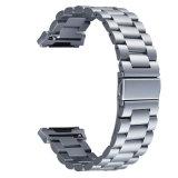 Nova Banda para Fitbit 22mm em aço inoxidável de qualidade três elos da correia de Cinza Ionic