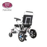 Sedia a rotelle piegante elettrica della lega portatile