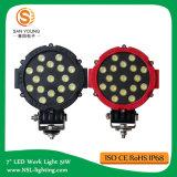 Nouvelle tension large (9 ~ 32V) 43W Lumière de travail LED / Machine de brouillard de voiture / Lumières de bateau / Lumières pour la pêche