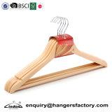 Houten Hangers van de Reeks van Lindon de In het groot Goedkope door BSCI Gecontroleerde Fabriek