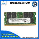 Alto rendimiento de 8 chips de memoria DDR4 16GB de RAM portátil