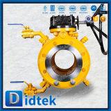 Фланец конструкции пожара Didtek безопасный кончает польностью сваренный шариковый клапан