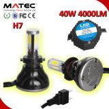 Farol H1 H7 H11 H4 9006 do carro do diodo emissor de luz 9005 farol do diodo emissor de luz de 40W H11b
