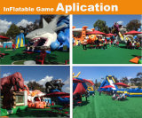 Commercial camouflage Paint inflatable obstacle inflatable obstacle race with slide for vent