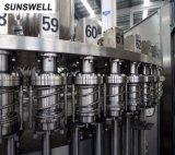 Terminar a linha de produção engarrafada do suco