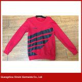 Disegno delicatamente nuovo del maglione di sport di modo del poliestere del cotone senza cappello (T06)