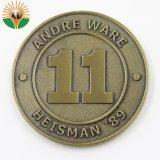 新しいロゴのデザインによってカスタマイズされる金属のエナメルの硬貨