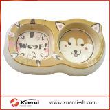 Bambuspuder Kein-Rutschen Haustier-Hundefilterglocke mit doppelten Filterglocken