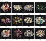 De glanzende Bergkristallen van de Moeilijke situatie van het Glas van de Kunst van de Spijker van de Kleur van het Kristal Ab van de Bergkristallen van de Kunst van de Spijker Purpere niet Hete voor de Decoratie van Spijkers DIY (nr-17)