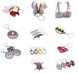 Anello promozionale della catena chiave di Keychain della mascherina del metallo dell'uomo del ferro dell'anello chiave