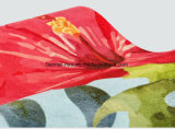 Couvre-tapis estampé polychrome fait sur commande de souris de suède