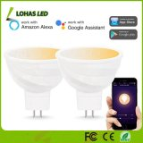 MR16 de 5W (GU5.3) Lámpara de Wi-Fi inteligente LED blanco sintonizable 2000-6500K Spotlight Contorlled por Free Tuya APP