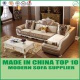 Muebles seccionales del sofá de la tela de lujo casera de la sala de estar
