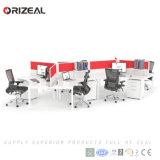 Orizeal 현대 모듈 사무실 책상, 사무실 고도 조정가능한 워크 스테이션, 워크 스테이션 책상 (OZ-ODKS058D-3)