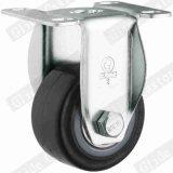 Feuergebühren-PU-Gewinde-Stamm-Seiten-Bremsen-Fußrolle (Schwarzes) (G2203)