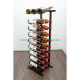 9 Flaschen-an der Wand befestigte Metalkeller-Wein-Bildschirmanzeige-Zahnstange