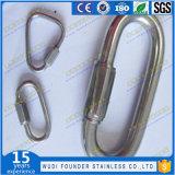 SS304 SS316 mousqueton en acier inoxydable Mousquetons crochet Lien rapide Quick Link Ring