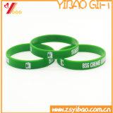 Bracelet fait sur commande de silicones d'impression de Deboss de logo (XY-ST-010)