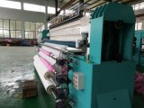二重列のキルトにする刺繍機械