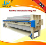 Prensa de filtro del PLC con la placa de tracción automática