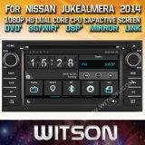 Voiture de l'écran tactile de Windows Witson DVD pour Nissan Juke Almera Remarque Livina 2014