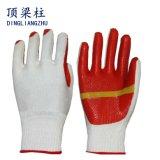 Прокатанные перчатки работы латекса для трудной безопасности
