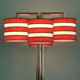 Dekorative moderne hölzerne Furnier-Blattgewebe-Farbton-Tisch-Lampe für allgemeinen Bereich