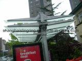 ステンレス鋼のバス停留所停止避難所/おおい