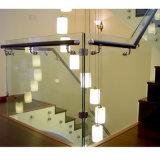 Aislamiento del acero inoxidable/barandilla de cristal de Frameless del pasamano de la abrazadera con la barandilla