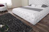 フランス様式木の房状のボタンの革ベッド