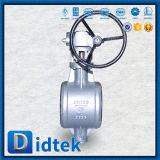 Didtek Pn25 Dn250 Wcb Kolben-Schweißens-Dreifach-Exzenterdrosselventil