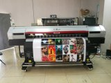 Xuli 1.85m großes Format-Tintenstrahl Eco zahlungsfähiger Drucker mit 2.5pl Xaar 1201 doppelte Köpfe