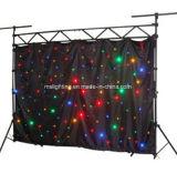 3m*6m RGBW LED Star ткань фоне / светодиод этапе тканью