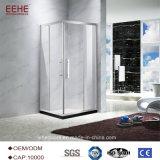 Fabricante simple de China de las puertas del sitio de ducha del cuarto de baño interior del vidrio helado