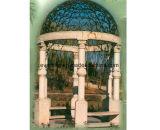 De grote Tuin Gazebo van het Paviljoen van /Yellow van de Steen van de Grootte Natuurlijke Witte Marmeren voor het Ornament van het Restaurant van het Park