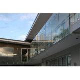 Balcón de diseño moderno sin cerco Baranda balaustrada valla de vidrio