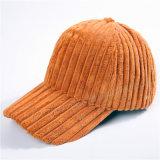 Casquillo caliente de las mujeres del casquillo del sombrero de la pana de encargo