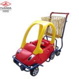 Le chariot à enfants de centre commercial badine le chariot à bébé de caddie