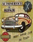 Signes d'étain Vintage décoratifs, wall hanging auto voiture de signes d'étain