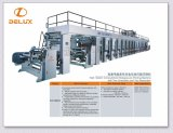 Torchio tipografico automatico ad alta velocità di incisione di Roto con 2 srotolamenti e 2 Rewinders (DLYJ-13850C/S)