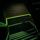 Pigmento luminoso do fósforo do pó fotoluminescente da cor verde para a cópia de Plasti da pintura de DIY, fulgor na poeira escura do pó